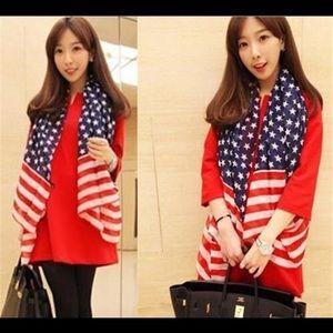 COMING SOON American flag pentagram chiffon scarf.
